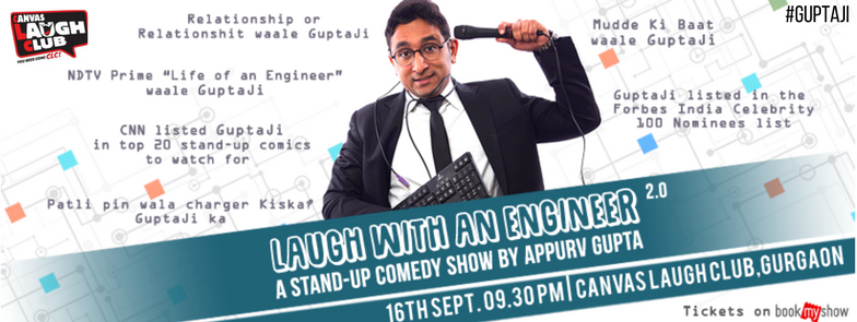 Laugh with an Engineer 2.0 at Canvas Laugh Club,Gurgaon