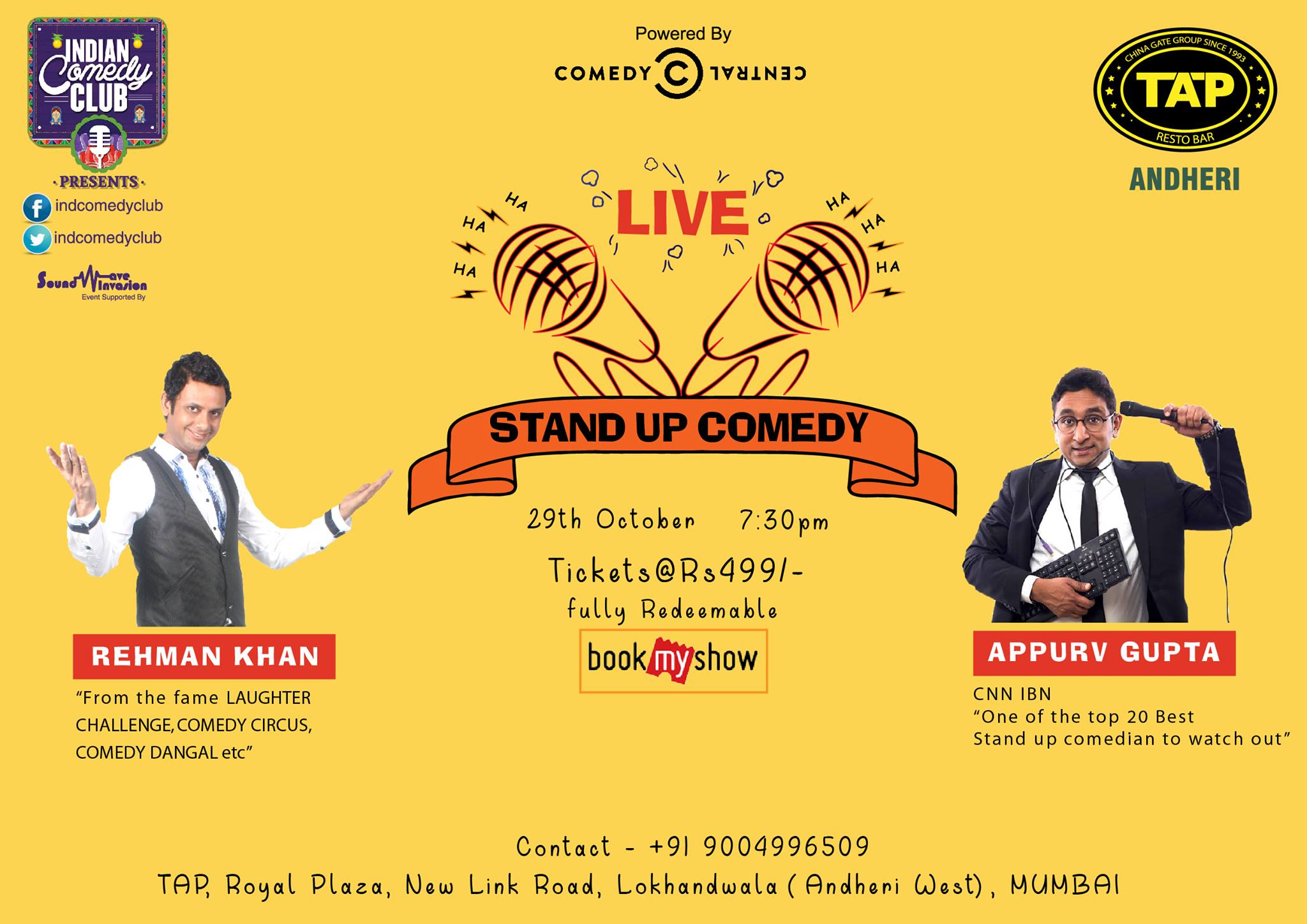 Stand-Up Comedy with Appurv Gupta and Rahman Khan